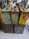 5 Metal Ammunition Boxes