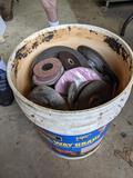 5 Gallon Bucket with Sanding Wheels