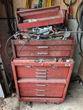 Stacking Tool Cabinets with Contents, No Key For Larger Cabinet