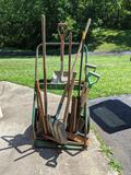 Lawn & Garden Tools with Metal Wheeled Acetylene Cart