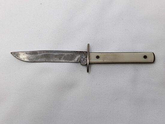 Whtie Handled Knife
