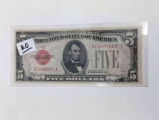 $5 1928C FR 1528 Crisp UNC