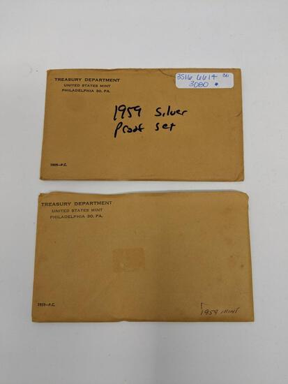 (2) 1959 Proof Sets