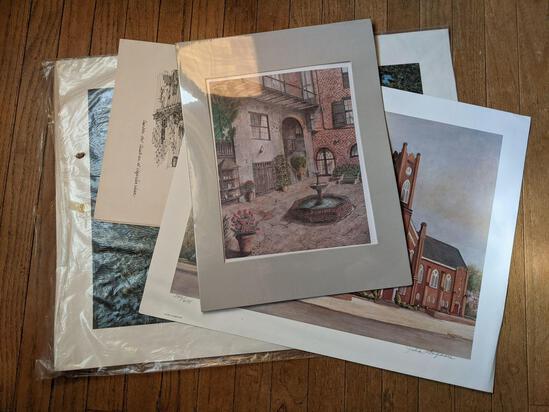 Unframed Prints Lot