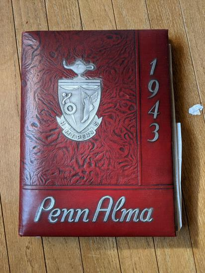 1943 Mt. Penn PA High School Yearbook and 50 Year Reunion Booklet