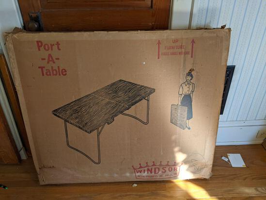 Vintage Portable Folding Table