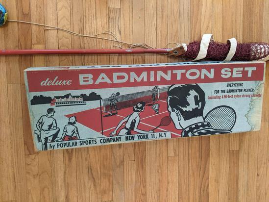 Vintage Badminton Set with Original Box