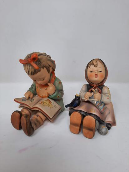 2 Hummels - Bookworm Girl, 8; Happy Pastime, 69