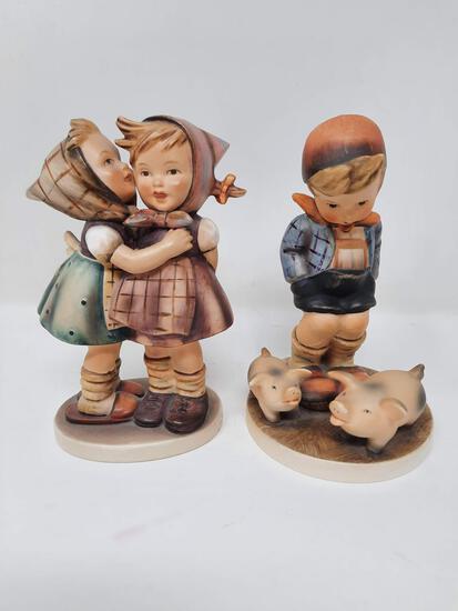 2 Hummels - Telling her Secret, 196/0; Farm Boy, 66 - damaged