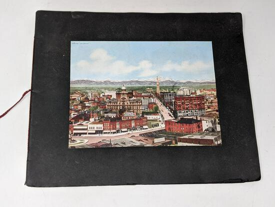 Oversized Pictorial Cards or Post Cards Mounted in Booklet