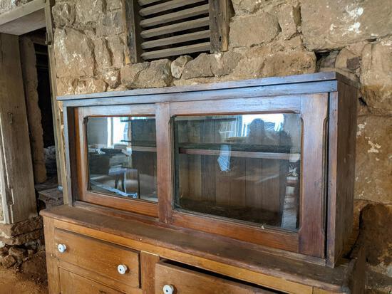 Display Case with Sliding Doors