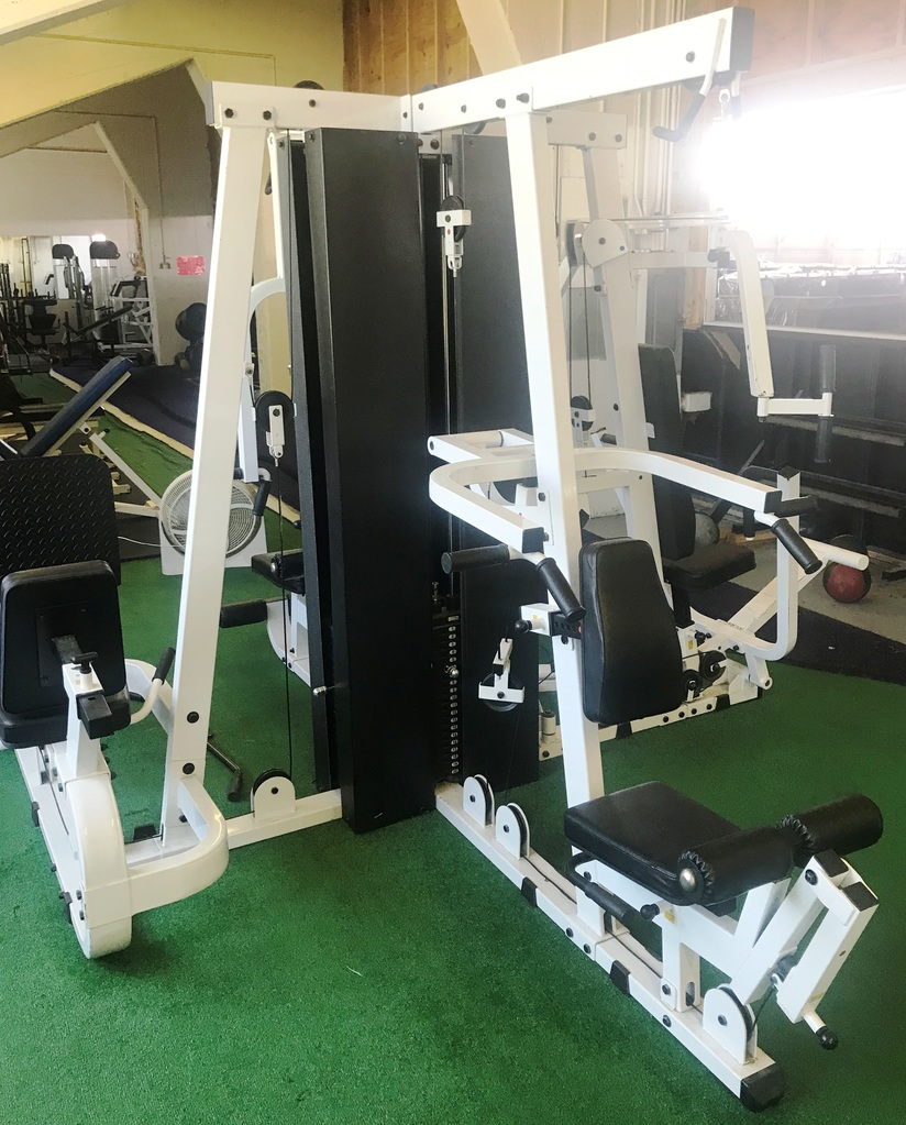 Multi station workout/exercise machine