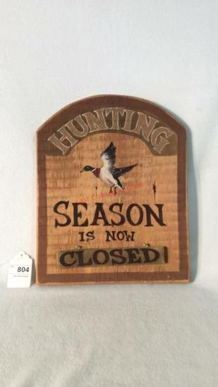 Open Closed Hunting Season Sign