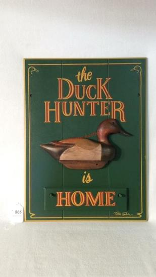 Duck Hunting Home Sign
