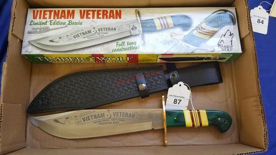 Vietnam Veteran Knife W/ Scabbard