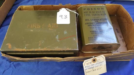 WWII Oild and Firt Aid Kit