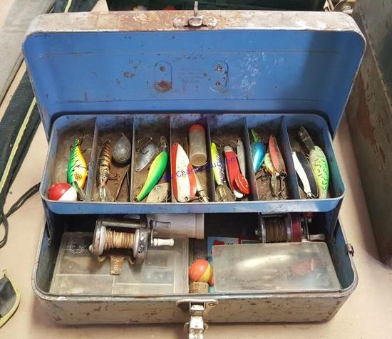 Vintage Tackle Boxes and Reels