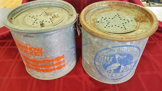Galvanized Minnow Buckets