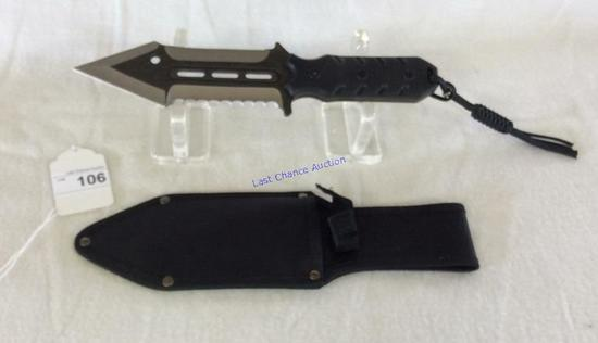 Double Edged Knife W/ Sheath