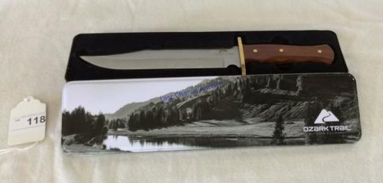 Ozark Trail Bowie Knife W/ Sheath & Tin