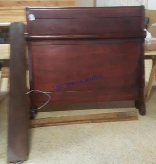 Antique Sleigh Bed Headboard & Footboard