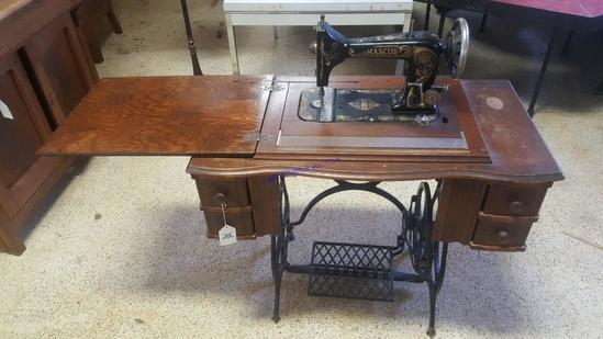 Antique Damascus Treadle Sewing Machine