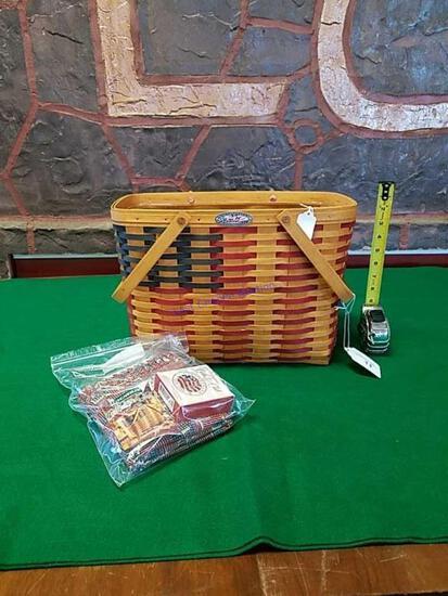 Longaberger Flag Basket