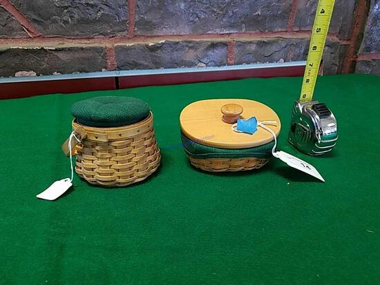 2 Longaberger Baskets in Green