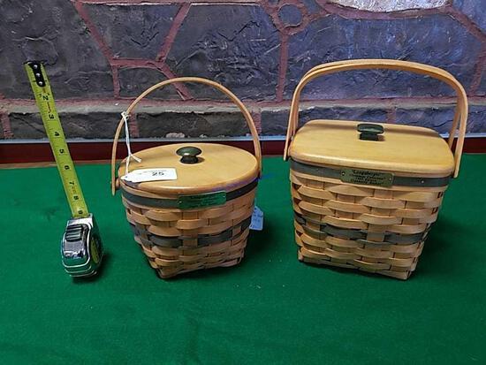 2 Longaberger Christmas baskets