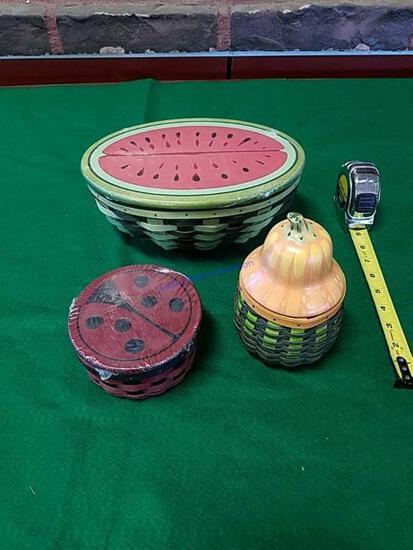 3 Longaberger Basket Sets