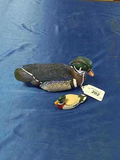Small DU Wood Duck and Avon Mallard Decoys
