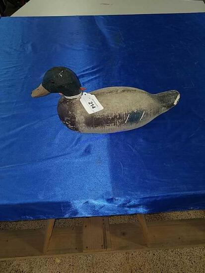 Mallard Drake with original Paint Decoy