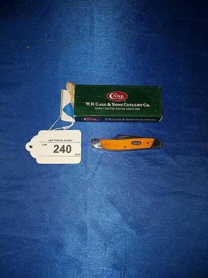 Case Pocket Knife Stockman Orange