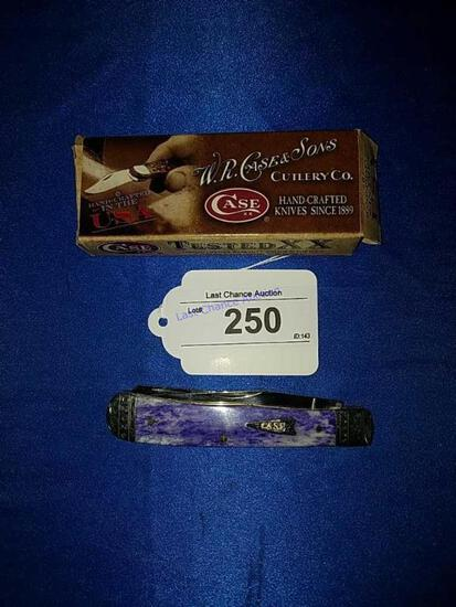 Case Pocket Knife Trapperlock Purple