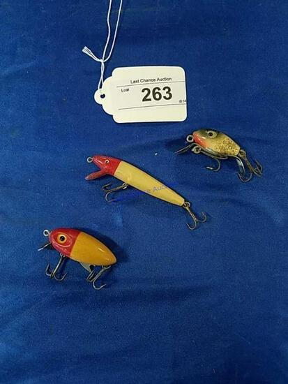 3 Vintage Fishing Lures