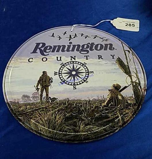 Remington Country Round Metal Sign