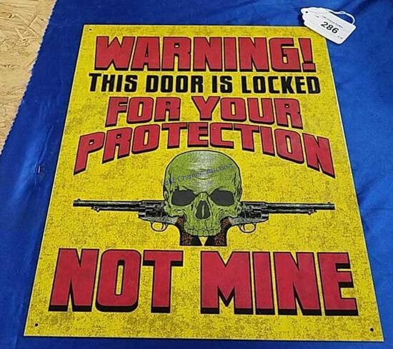 Door Locked For Your Protection Sign