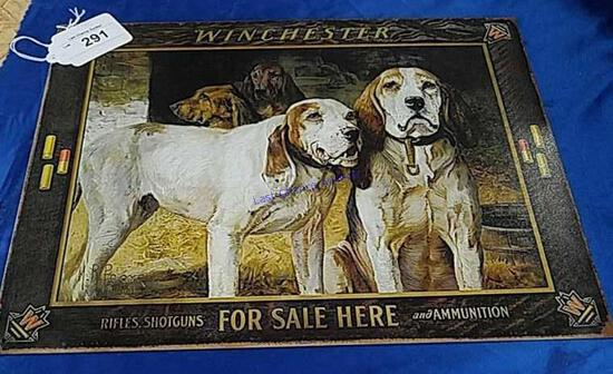 Winchesteer Hunting Dogs Sign