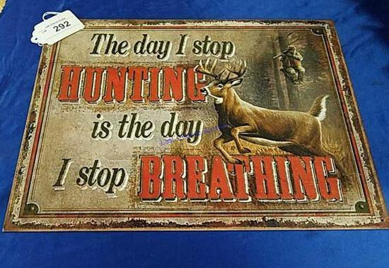 Hunting Sign with Deer