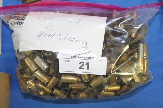 5lb Bag of .45 cal Commercial Brass