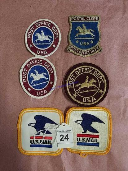 6-US Post Office Patches