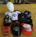 11-Collectible Hats with Foam Display Head