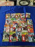 Lot of 22 Football Digest Magazines 1980-82