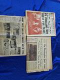 Lot of Newspaper and Scrapbook of School