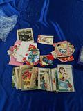 Lot of Vintage Greeting Cards and Valentines