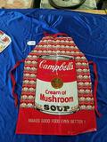Campbell's Soup Place Mat and Plastic Apron