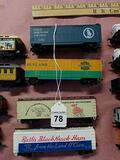4-Model Train Box Cars
