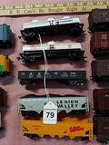 Model Train Cars  2-Tankers 3-Coal Cars