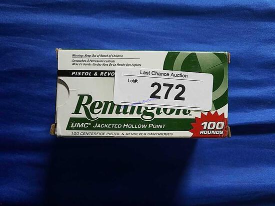 100ct Remington 9mm Luger  115gr JHP