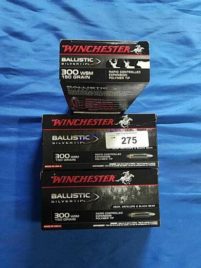 3X-20ct Winchester .300 WSM 150gr BT